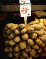 Potatoes in a bin