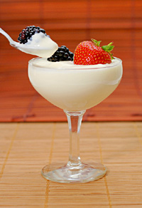 Creamy yogurt with fruit