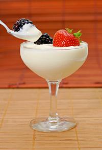 Creamy yogurt with fruit