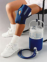 Knee Cryo/cuff combines compression with cold