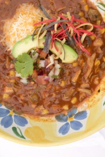Generic Taco Soup image - not a picture of mine!