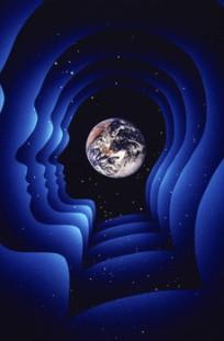 World looking through