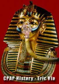 King Tut in a CPAP mask