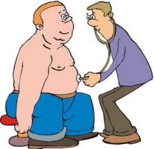 Obese Man and Doctor