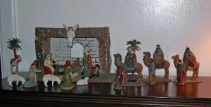 Spanish nativity set