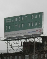 Billboard for Fenway's Opening Day 2007