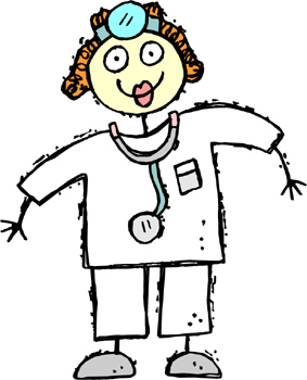 Child's drawing of a doctor