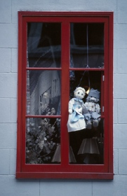 Window with rag dolls