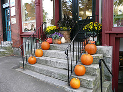 Pumpkins on the Stairs