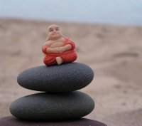 Buddha on the rocks