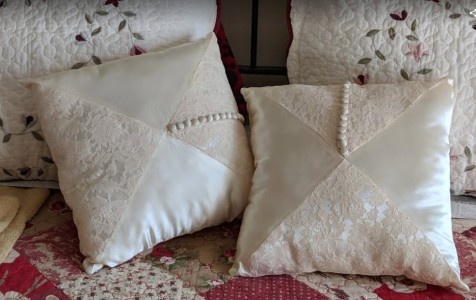 Pillows from moms dress