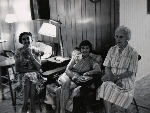 Daisy Flanders, Edith Karr, and Mary McDonald - Manasquan, c1964
