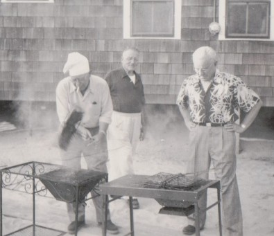 Bill Flanders Grilling c1960
