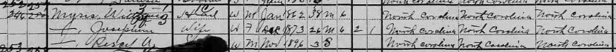 Myers 1900 census